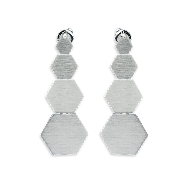 Bee Mine BEE MINE 4 SOLID HEXAGON POST EARRINGS