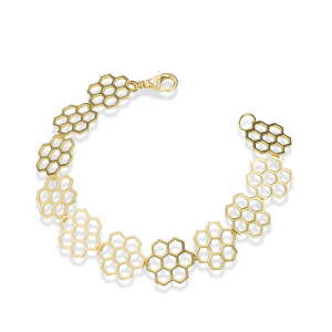 Bee Mine BEE MINE HEXAGON 18K GOLD VERMEIL